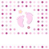 Tarjeta de la ducha de bebé Fotografía de archivo libre de regalías