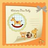 Tarjeta de la ducha de bebé Imagen de archivo libre de regalías