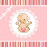 Tarjeta de la ducha de bebé. Foto de archivo libre de regalías
