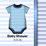 Tarjeta de la ducha de bebé Fotografía de archivo