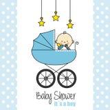 Tarjeta de la ducha de bebé stock de ilustración