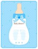 Tarjeta de la ducha de bebé para los muchachos stock de ilustración