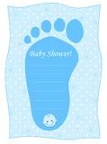 Tarjeta de la ducha de bebé para los muchachos Fotografía de archivo