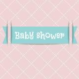 Tarjeta de la ducha de bebé Tarjeta de llegada Imagenes de archivo