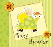 Tarjeta de la ducha de bebé Fotos de archivo libres de regalías