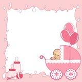 Tarjeta de la ducha de bebé. Imagen de archivo libre de regalías