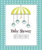 Tarjeta de la ducha de bebé para los muchachos Foto de archivo