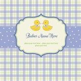 tarjeta de la ducha de los gemelos de los bebés Fotos de archivo