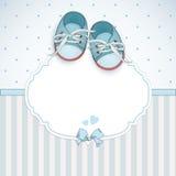 Tarjeta de la ducha del bebé Imágenes de archivo libres de regalías