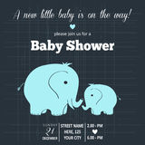 Tarjeta de la ducha del bebé Imagen de archivo libre de regalías
