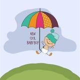 Tarjeta de la ducha del bebé Foto de archivo libre de regalías