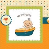 Tarjeta de la ducha del bebé Fotos de archivo