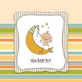 Tarjeta de la ducha del bebé Fotografía de archivo