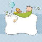 Tarjeta de la ducha del bebé Fotos de archivo libres de regalías