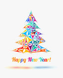 Tarjeta de la enhorabuena de la Feliz Año Nuevo stock de ilustración
