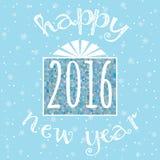 Tarjeta de la enhorabuena de la Feliz Año Nuevo Imagenes de archivo