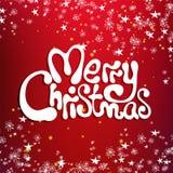 Tarjeta de la enhorabuena de la Feliz Navidad Imagen de archivo