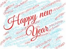 Tarjeta de la enhorabuena del ` s del Año Nuevo Imagen de archivo libre de regalías