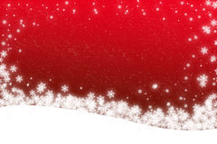 tarjeta de la escena de la nieve de la Navidad Imagenes de archivo