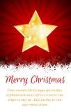 Tarjeta de la estrella de la Navidad con el lugar para el texto Imágenes de archivo libres de regalías