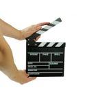 Tarjeta de la etiqueta de plástico de la película Foto de archivo libre de regalías