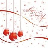 Tarjeta de la Feliz Año Nuevo Foto de archivo libre de regalías