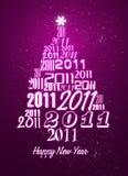 Tarjeta de la Feliz Año Nuevo 2011 Imagenes de archivo
