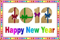 Tarjeta de la Feliz Año Nuevo 2012 Foto de archivo libre de regalías
