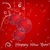 Tarjeta de la Feliz Año Nuevo 2013 ilustración del vector