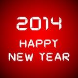 Tarjeta de la Feliz Año Nuevo 2014 Foto de archivo