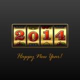 Tarjeta de la Feliz Año Nuevo 2014 Foto de archivo libre de regalías