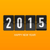 Tarjeta de la Feliz Año Nuevo 2015 Imagen de archivo libre de regalías