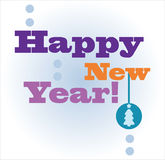 Tarjeta de la Feliz Año Nuevo Imagen de archivo