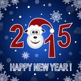 Tarjeta de la Feliz Año Nuevo 2015 Imágenes de archivo libres de regalías