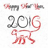 Tarjeta de la Feliz Año Nuevo 2016 Fotos de archivo