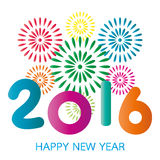 Tarjeta de la Feliz Año Nuevo 2016 Foto de archivo