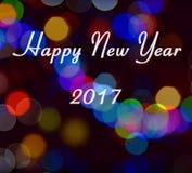 Tarjeta de la Feliz Año Nuevo 2017 Foto de archivo