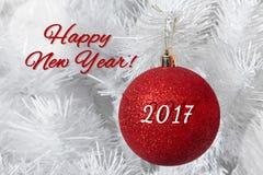 Tarjeta de la Feliz Año Nuevo Imagenes de archivo