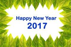Tarjeta de la Feliz Año Nuevo 2017 Imágenes de archivo libres de regalías