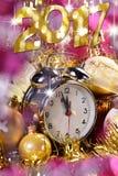 Tarjeta de la Feliz Año Nuevo 2017 Imagen de archivo libre de regalías