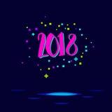 Tarjeta de la Feliz Año Nuevo Imágenes de archivo libres de regalías