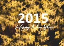 Tarjeta de la Feliz Año Nuevo, fondo de oro de la mariposa Fotografía de archivo