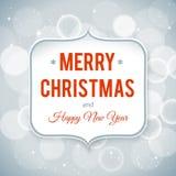 Tarjeta de la Feliz Año Nuevo y de la Feliz Navidad Fotos de archivo
