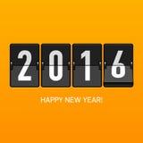 Tarjeta de la Feliz Año Nuevo 2016 Fotografía de archivo libre de regalías