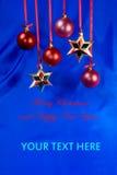 Tarjeta de la Feliz Navidad Imagenes de archivo