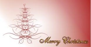 Tarjeta de la Feliz Navidad Fotos de archivo libres de regalías
