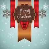 Tarjeta de la Feliz Navidad Imagen de archivo