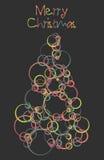 Tarjeta de la Feliz Navidad Foto de archivo