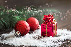 Tarjeta de la Feliz Navidad Fotos de archivo