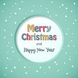 Tarjeta de la Feliz Navidad. Fotos de archivo